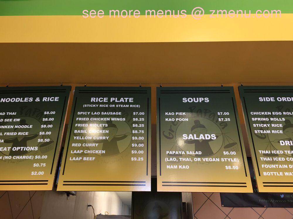Online Menu Of Green Papaya Restaurant Stockton California 95210