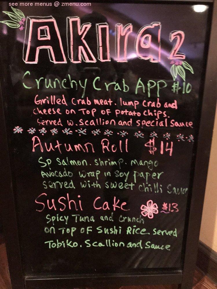 Online Menu Of Akira Restaurant Moorestown New Jersey 08057 Zmenu