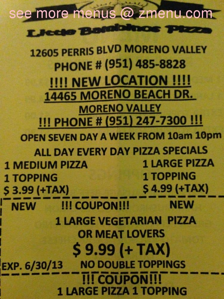Little bambinos pizza coupons