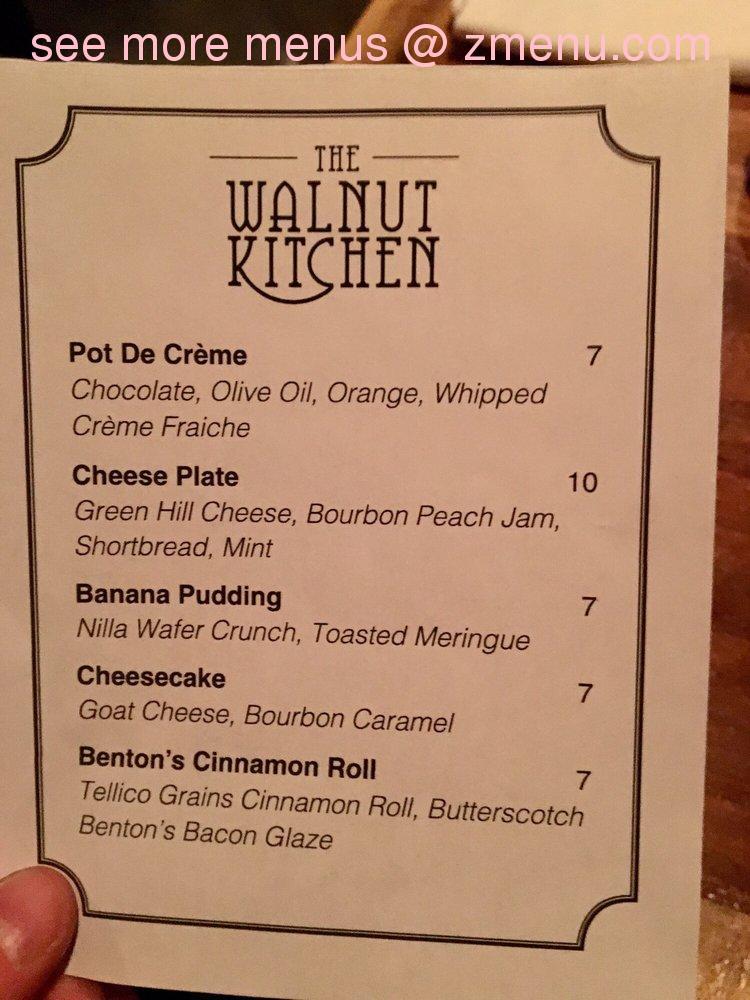 Online Menu Of Walnut Kitchen Restaurant Maryville Tennessee 37804 Zmenu