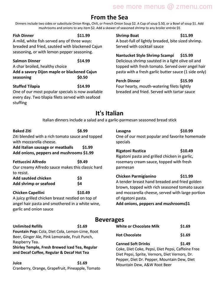 Online Menu of 818 Club Restaurant, Fremont, Ohio, 43420 - Zmenu