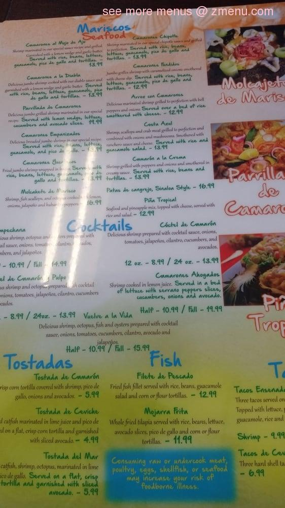Online Menu Of Luna Mexican Seafood Bar Grill Restaurant Greensboro North Carolina 27455 Zmenu
