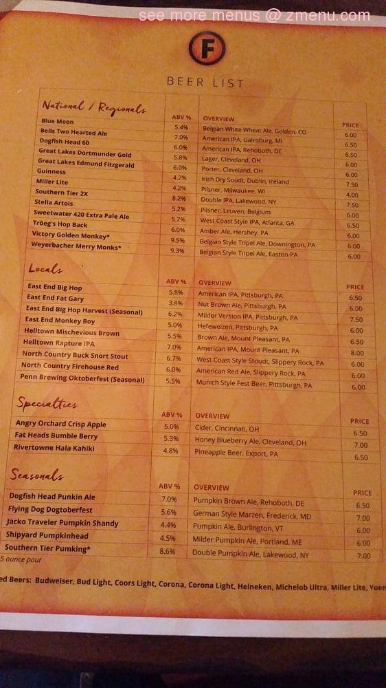 Online Menu of The Firepit Wood Fired Grill Restaurant ...