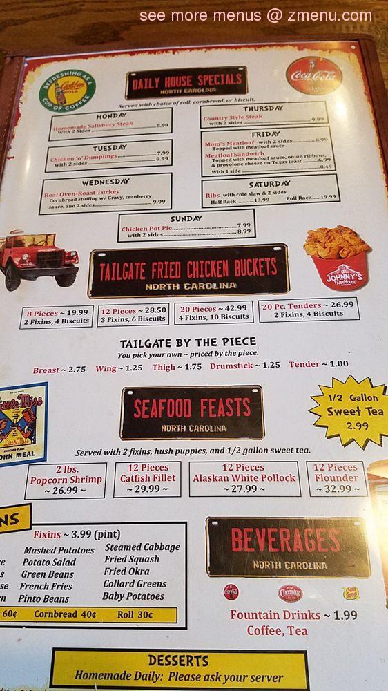 Online Menu of Johnny's Farmhouse Restaurant Restaurant ...