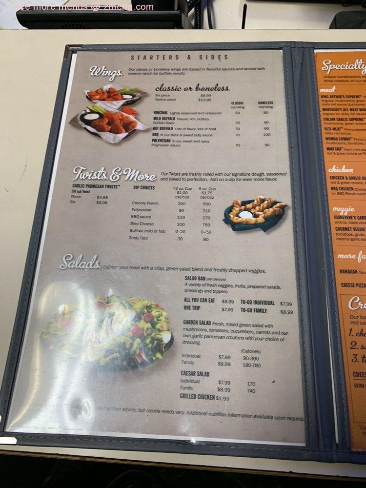 Online Menu Of Round Table Pizza Restaurant Dublin California 94568 Zmenu