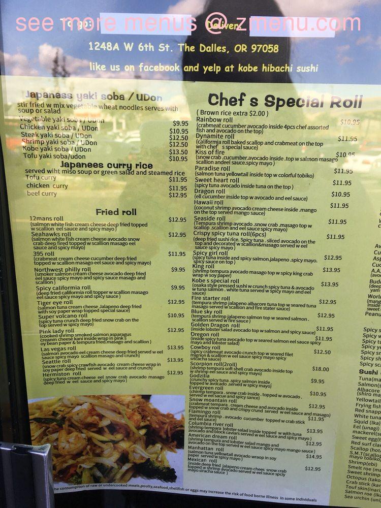 323ac629d96 Online Menu of Kobe Hibachi Sushi Restaurant