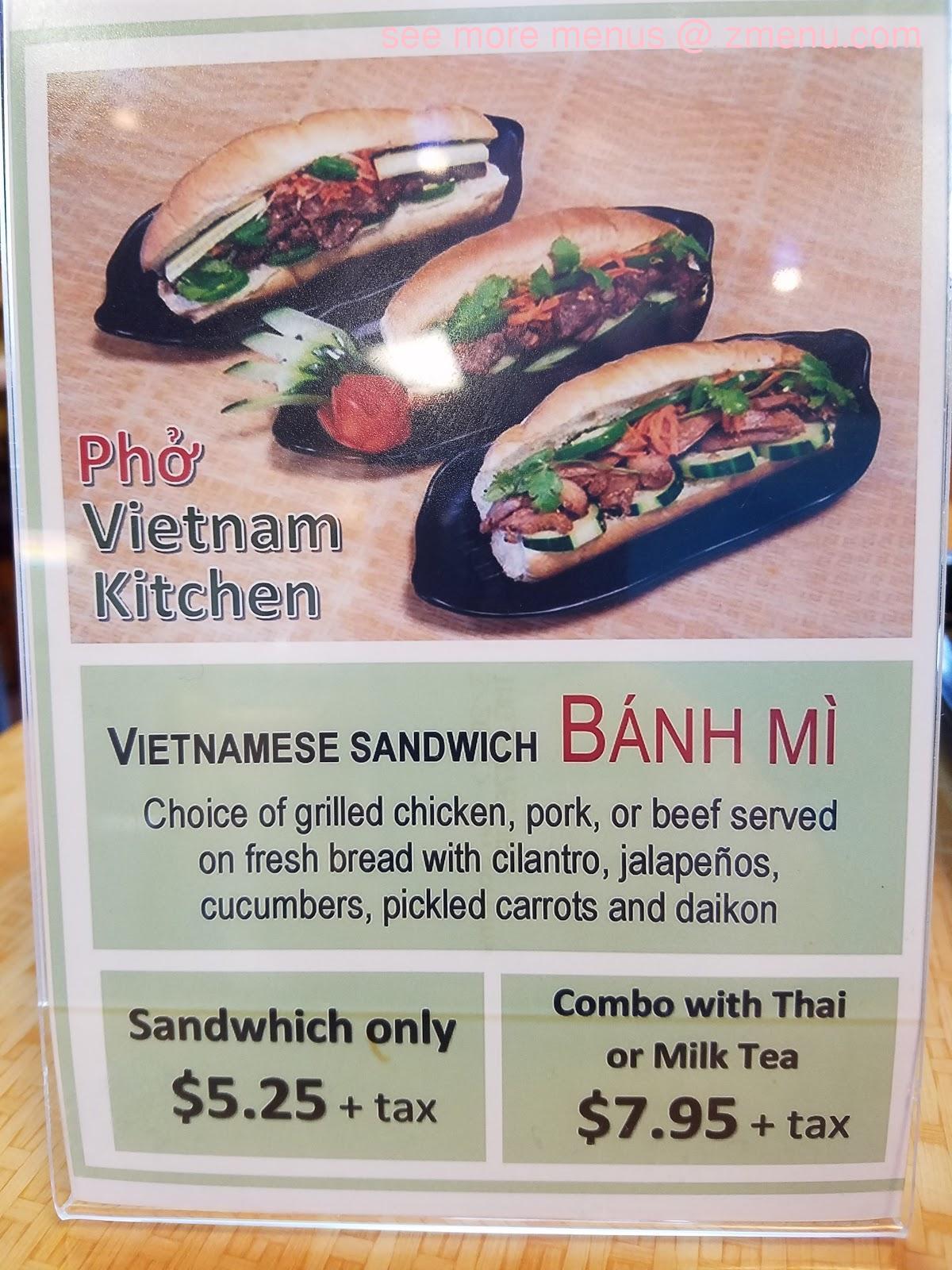 Online Menu Of Pho Vietnam Kitchen Restaurant West Covina