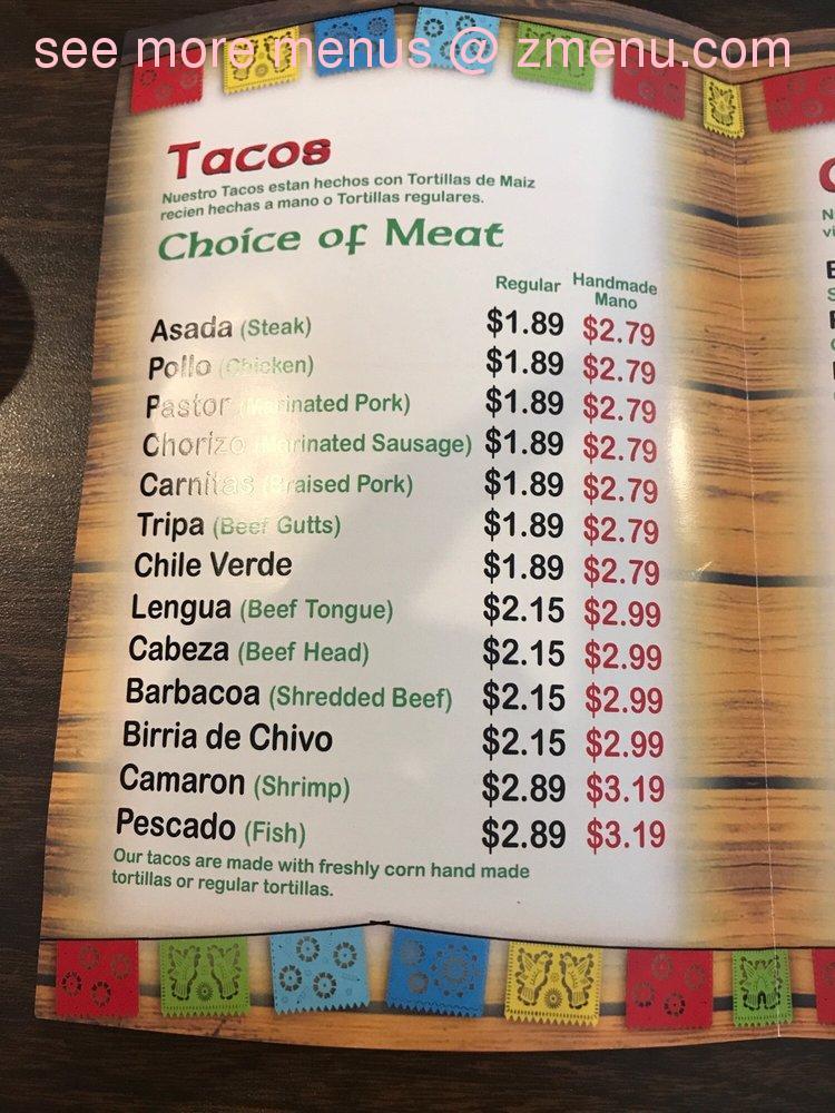 La fonda wasco menu