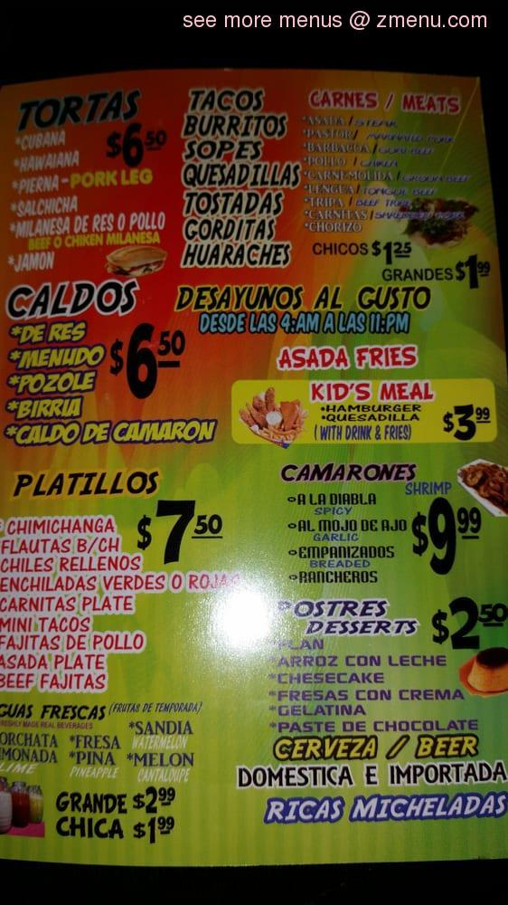 Online Menu Of La Salsita Restaurant Port Arthur Texas 77642 Zmenu