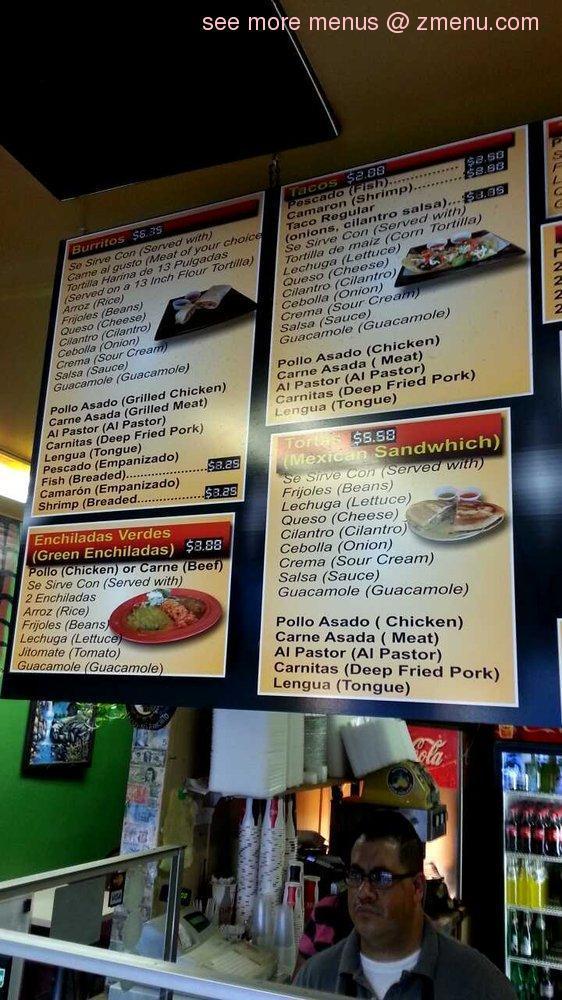 Online Menu Of Tacos Mi Ranchito Restaurant Ontario Oregon 97914
