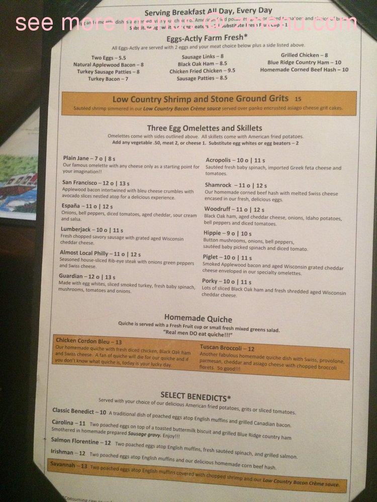 Online Menu Of Select Restaurant Spartanburg South Carolina 29302