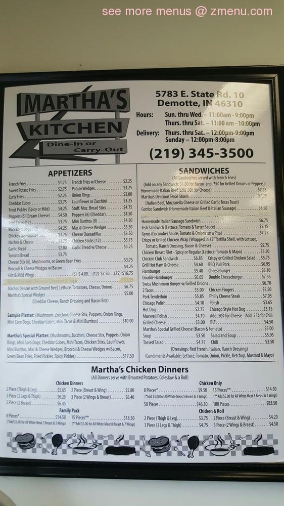 note - Marthas Kitchen