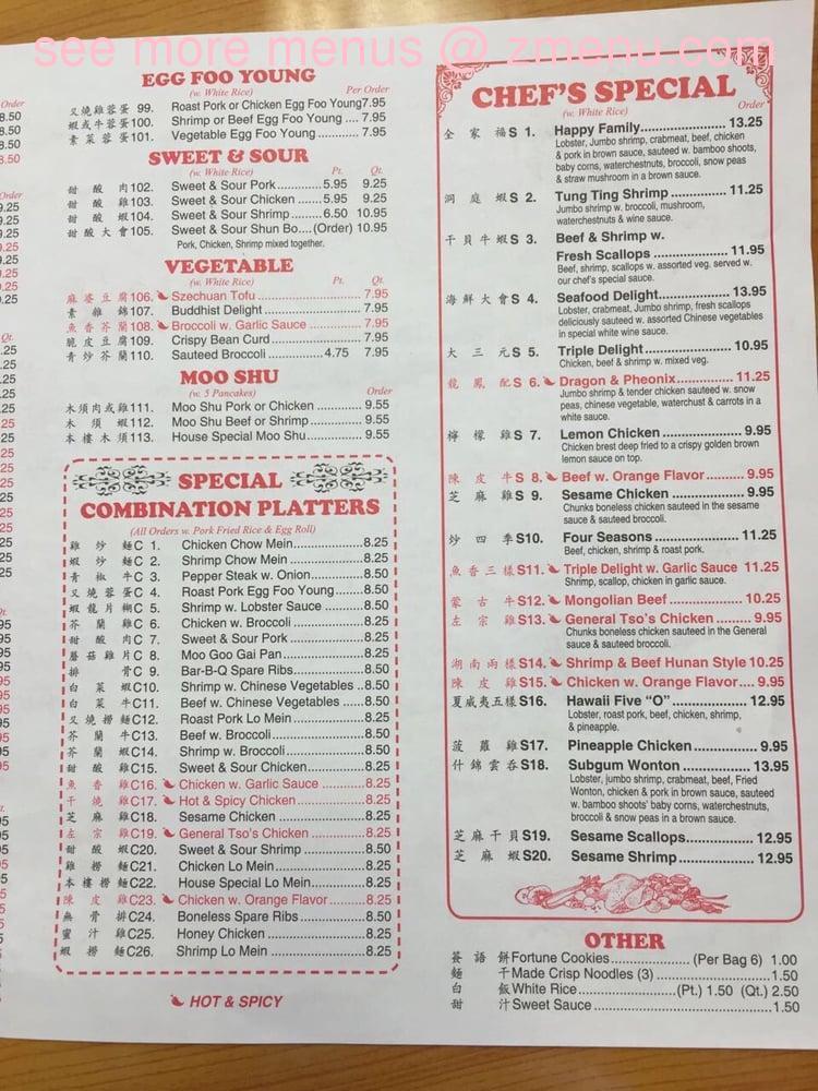 Online Menu Of Lucky Kitchen Restaurant Clayton New York 13624 Zmenu