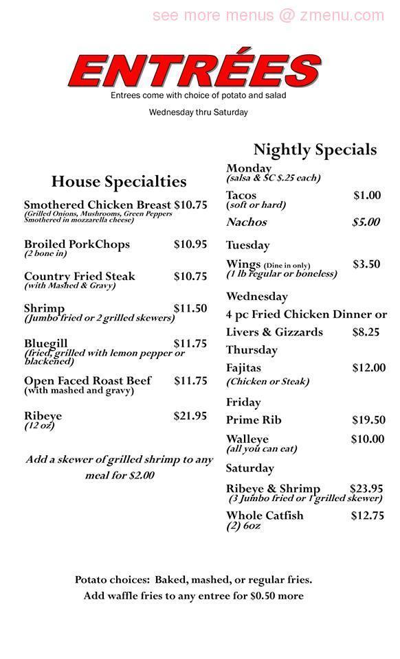 Online Menu Of Farmhouse Restaurant Delavan Illinois 61734 Zmenu