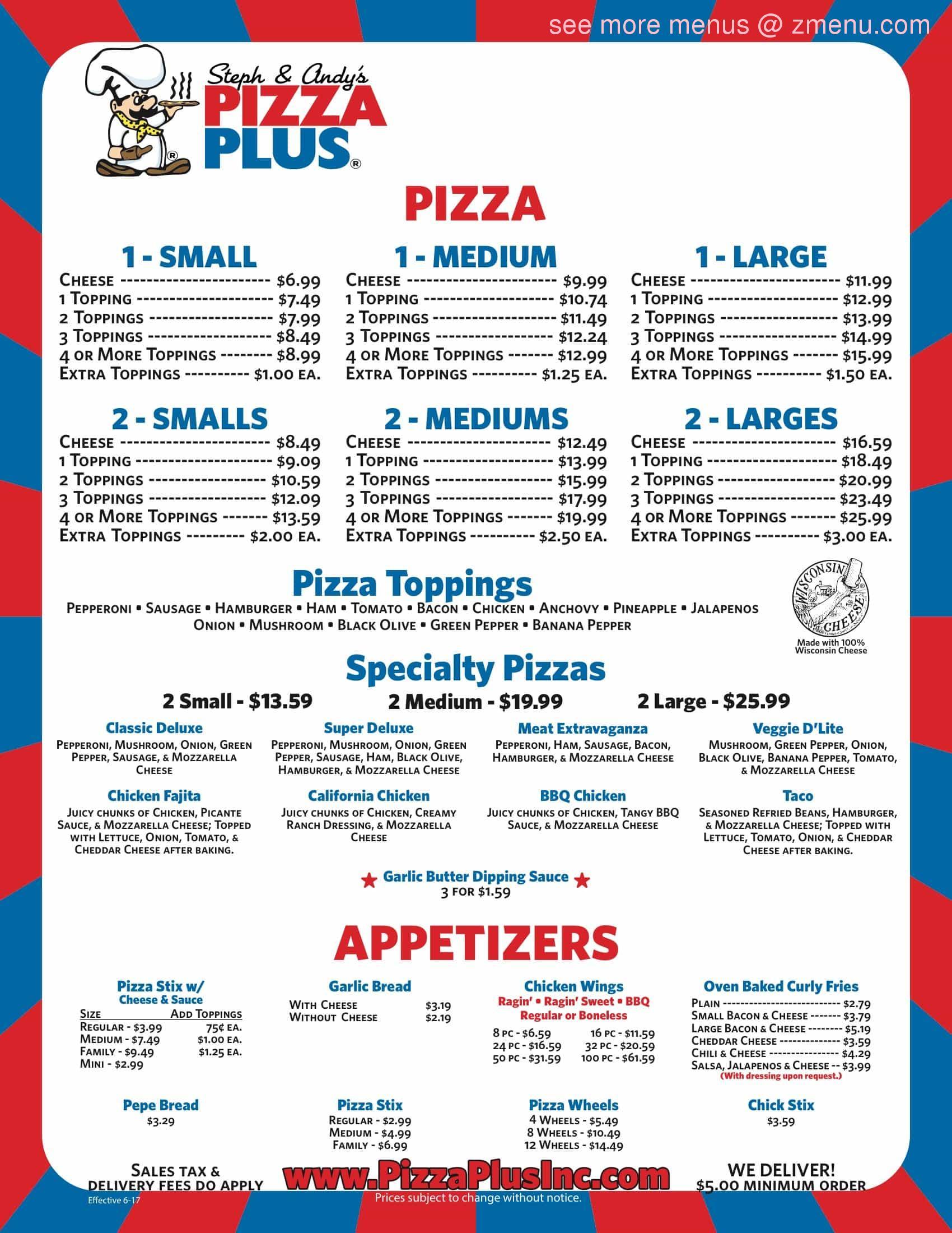 Online Menu Of Perfect Pizza Plus Restaurant Cave Junction