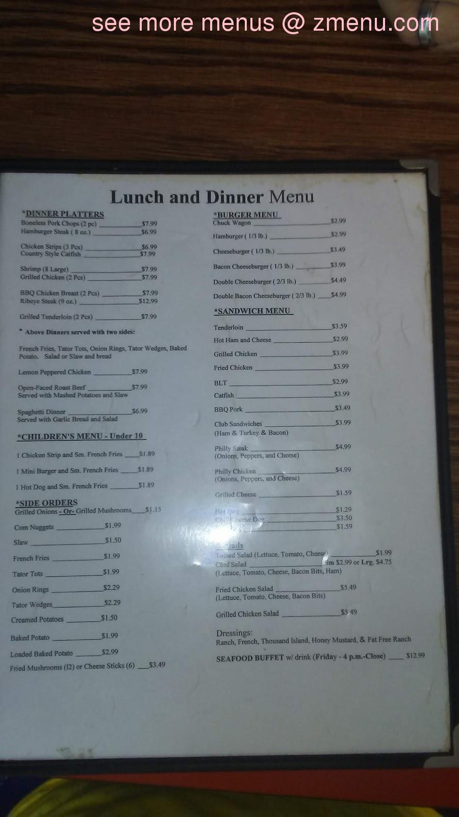 Online Menu of Old Times Cafe Restaurant, Spencer, Tennessee
