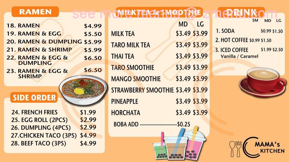 Online Menu of Mama\'s Kitchen Restaurant, Calexico, California ...