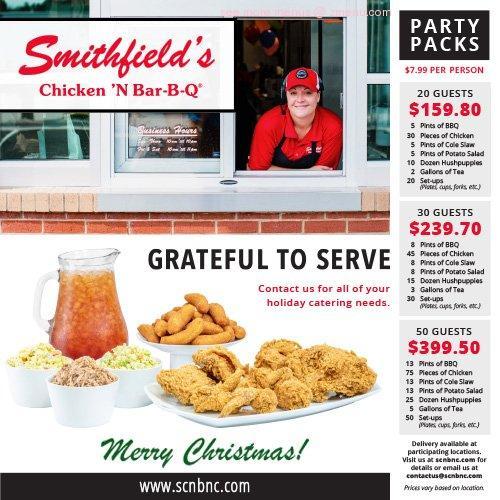 Online Menu of Smithfields Chicken N Bar-B-Q Restaurant ...