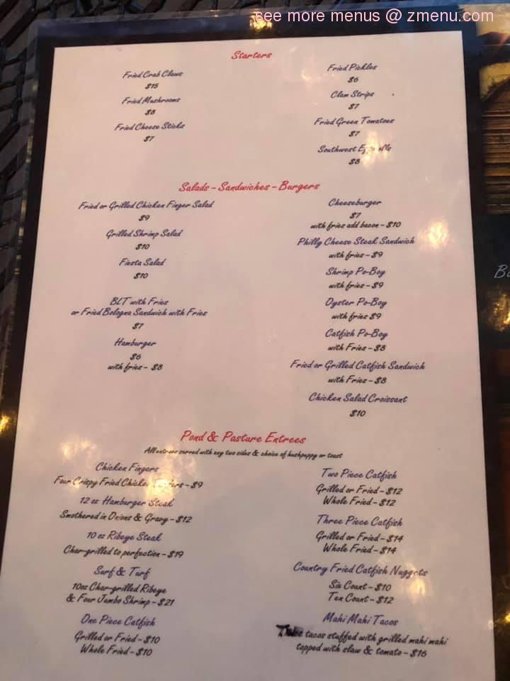 Online Menu Of Back Porch Grill Restaurant Talladega Alabama