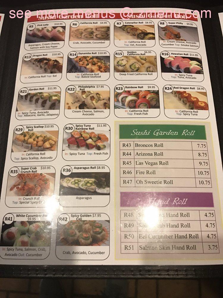 online menu of sushi garden restaurant pueblo colorado 81005 zmenu