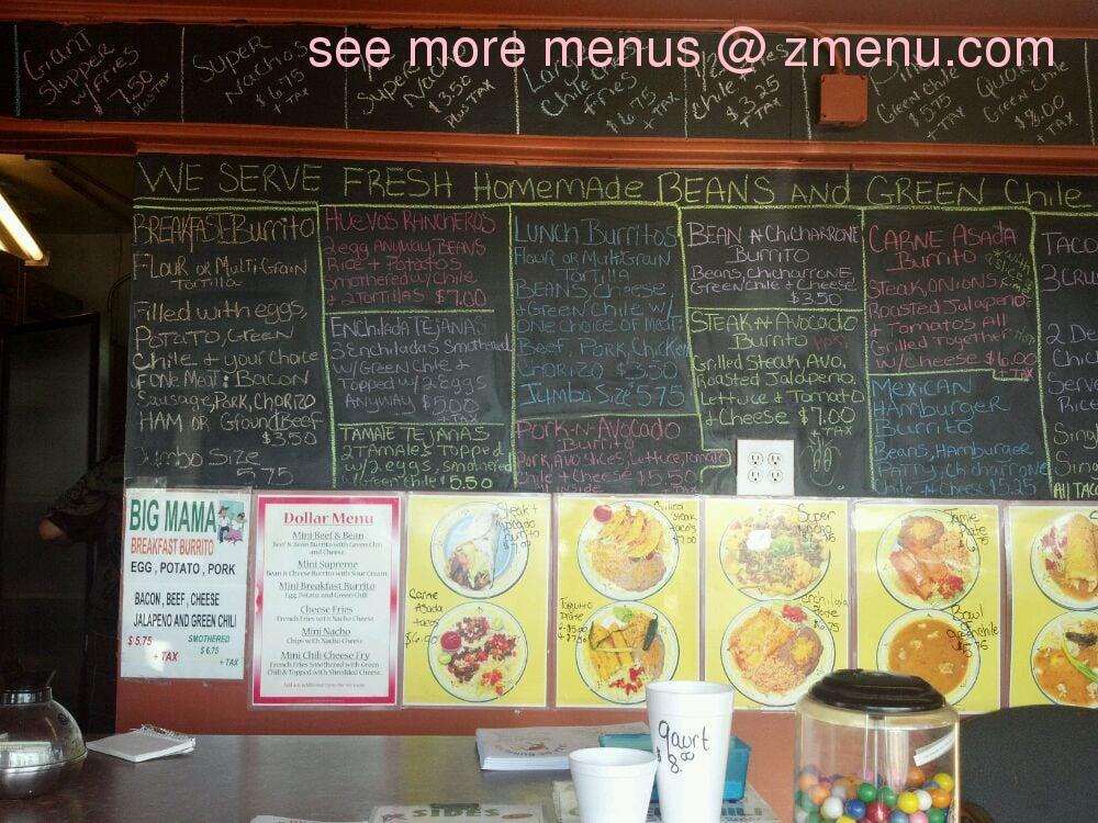Online Menu Of Casa De Burritos Restaurant Pueblo Colorado 81005 Zmenu