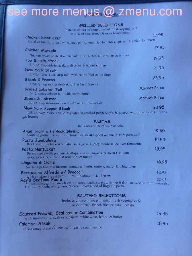 The Nantucket Restaurant Crockett Ca Menu