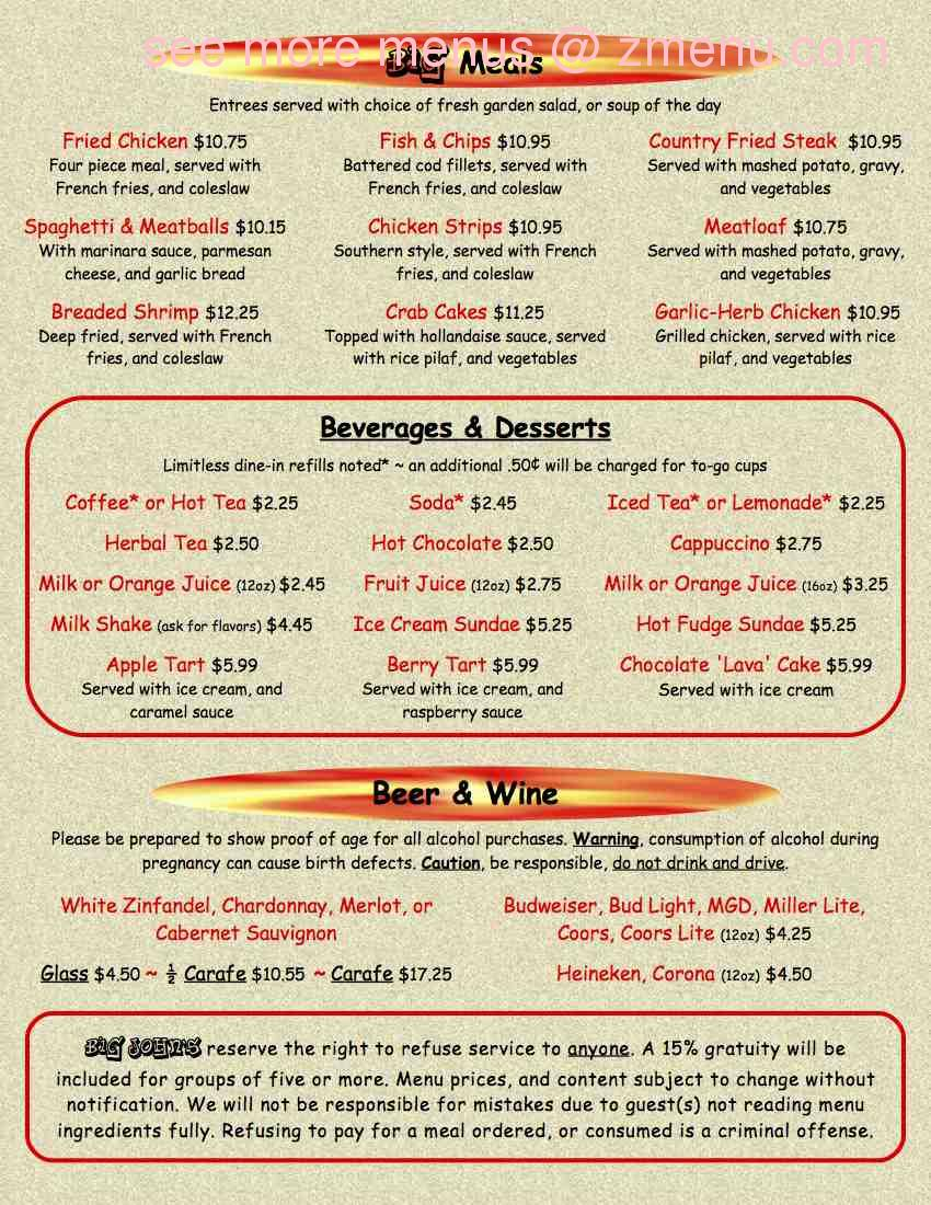 The Red Dot Vegetarian Kitchen Menu