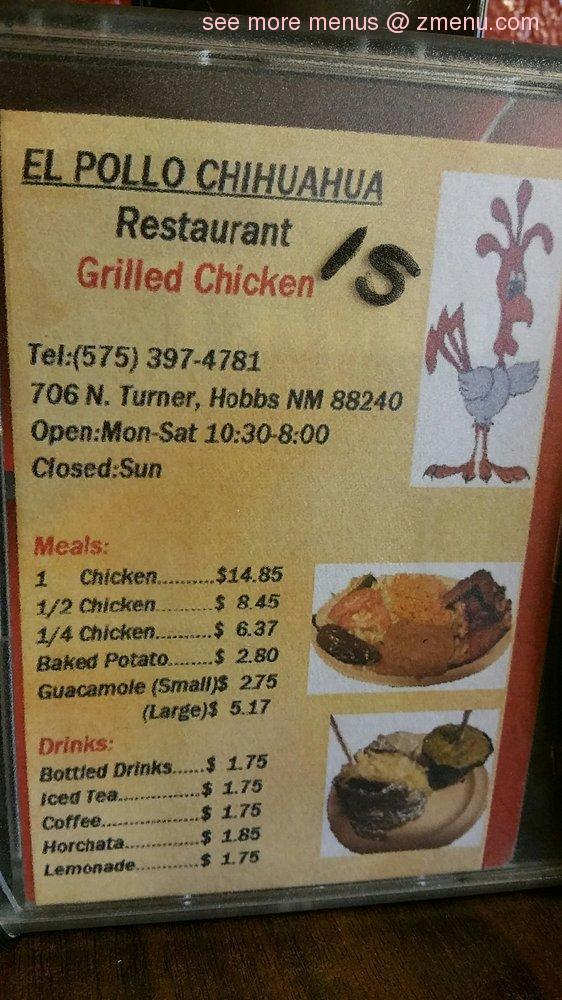 Note The Menu Prices May Subject To Change