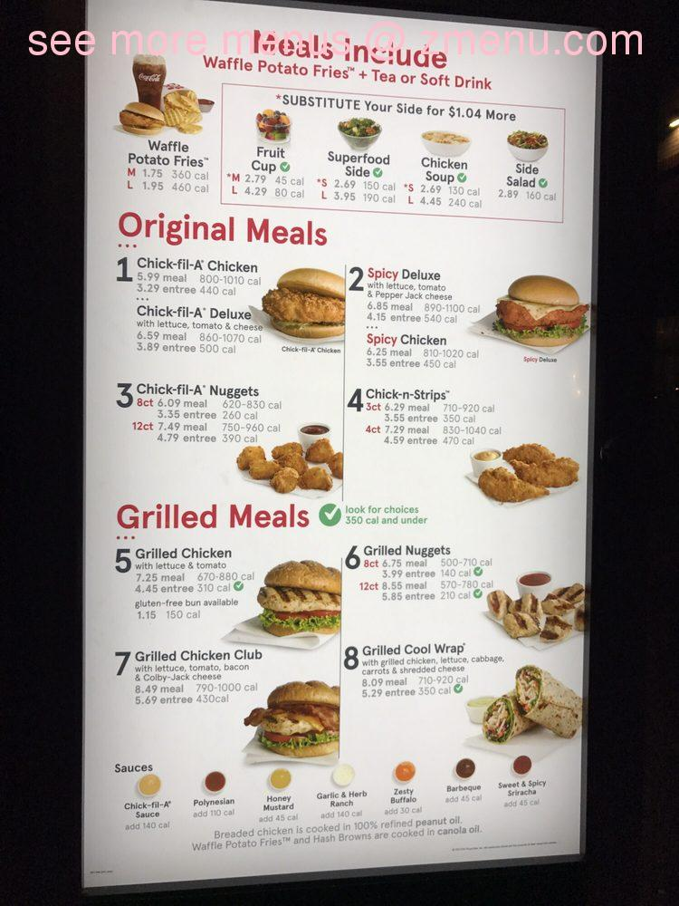 image relating to Chick Fil a Menu Printable named On line Menu of Chick-fil-A Cafe, Calera, Alabama