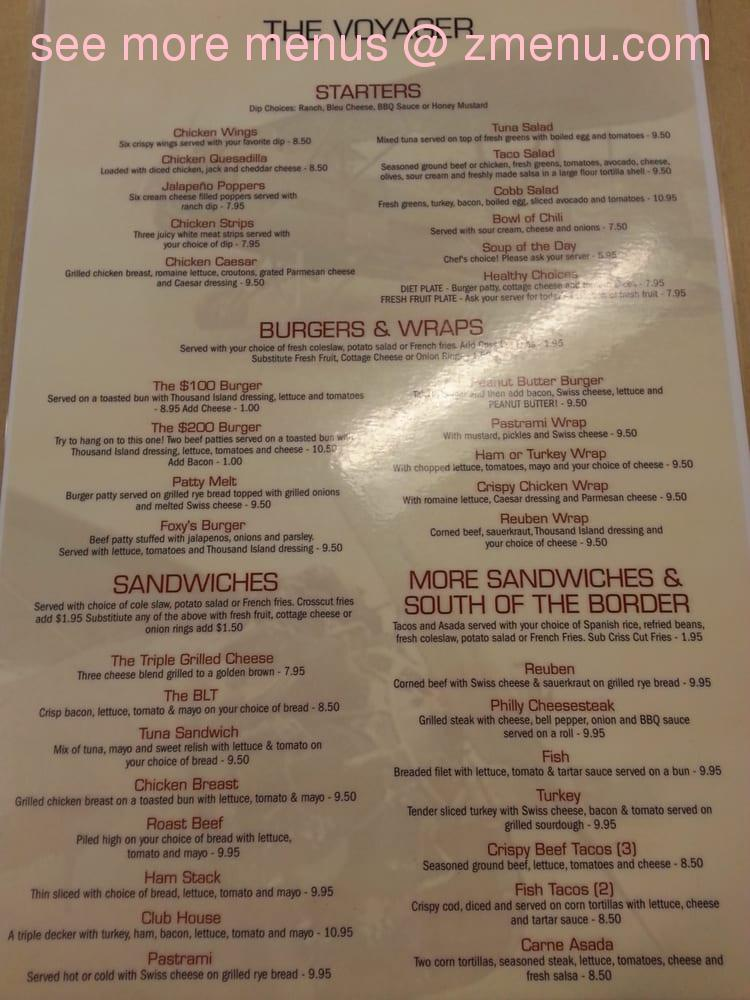 Online Menu Of Voyager Restaurant Restaurant Mojave California