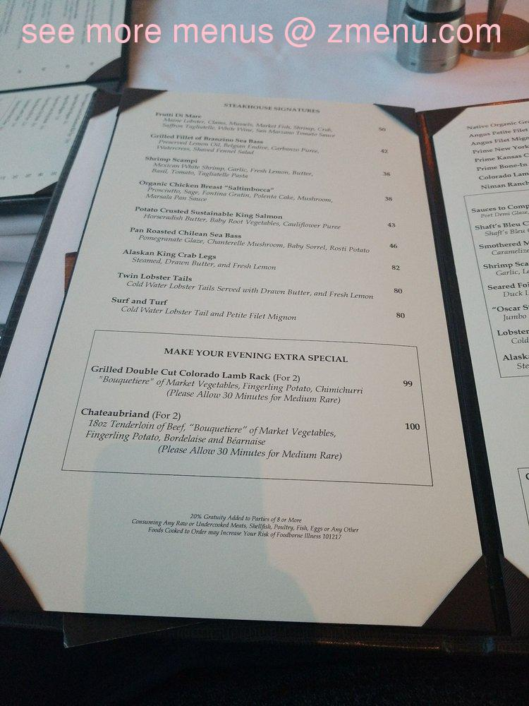 Awe Inspiring Online Menu Of Cielo The Steakhouse At Morongo Restaurant Download Free Architecture Designs Grimeyleaguecom