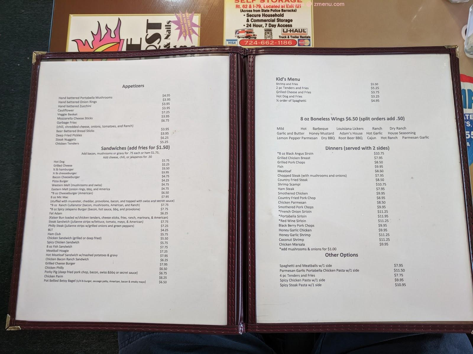 Online Menu Of Mcculloughs Kitchen Table Restaurant Stoneboro Pennsylvania 16154 Zmenu