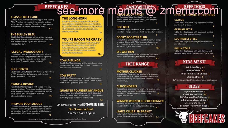 online menu of beefcakes restaurant republic missouri 65738 zmenu. Black Bedroom Furniture Sets. Home Design Ideas