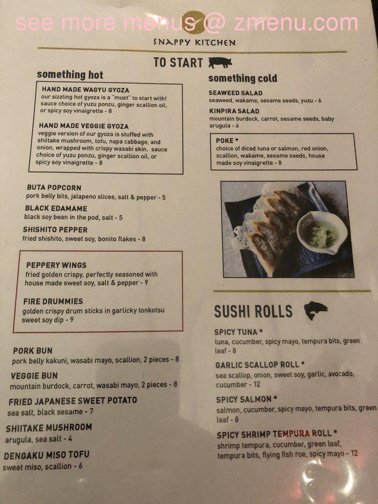 Online Menu Of Snappy Kitchen Restaurant Somerville Massachusetts 02144 Zmenu