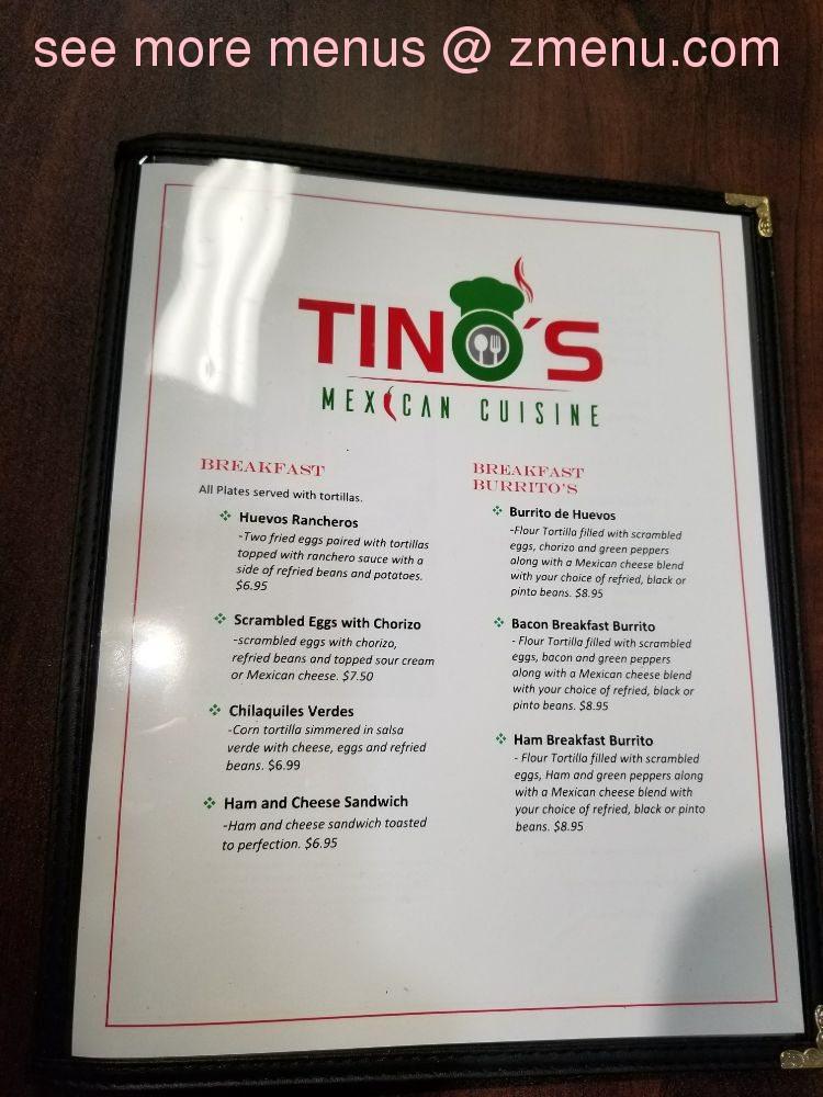 Online Menu Of Tinos Mexican Cuisine Restaurant Fort Myers Florida 33908 Zmenu