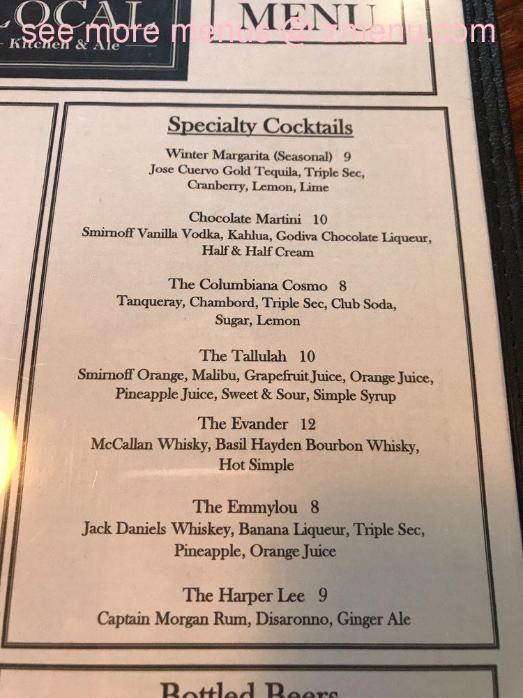 Online Menu Of The Local Kitchen Ale Restaurant