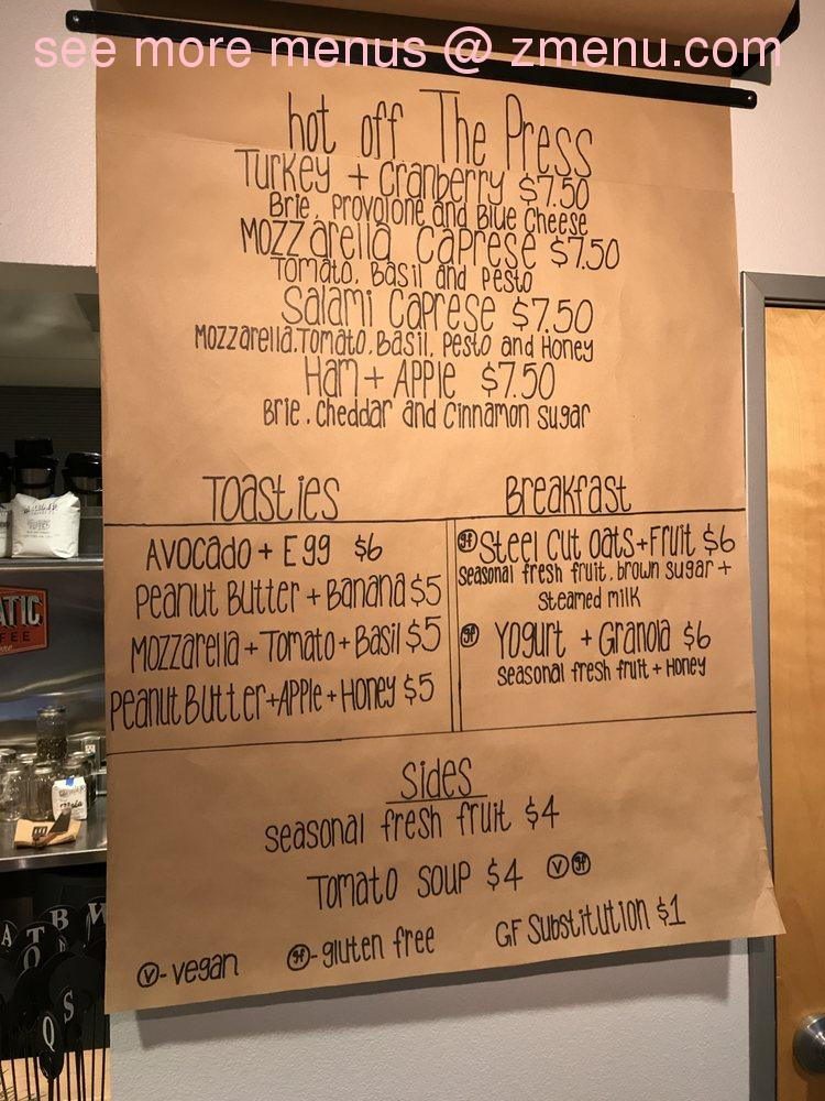Online Menu of Parchments Coffee Shop Restaurant, Livermore