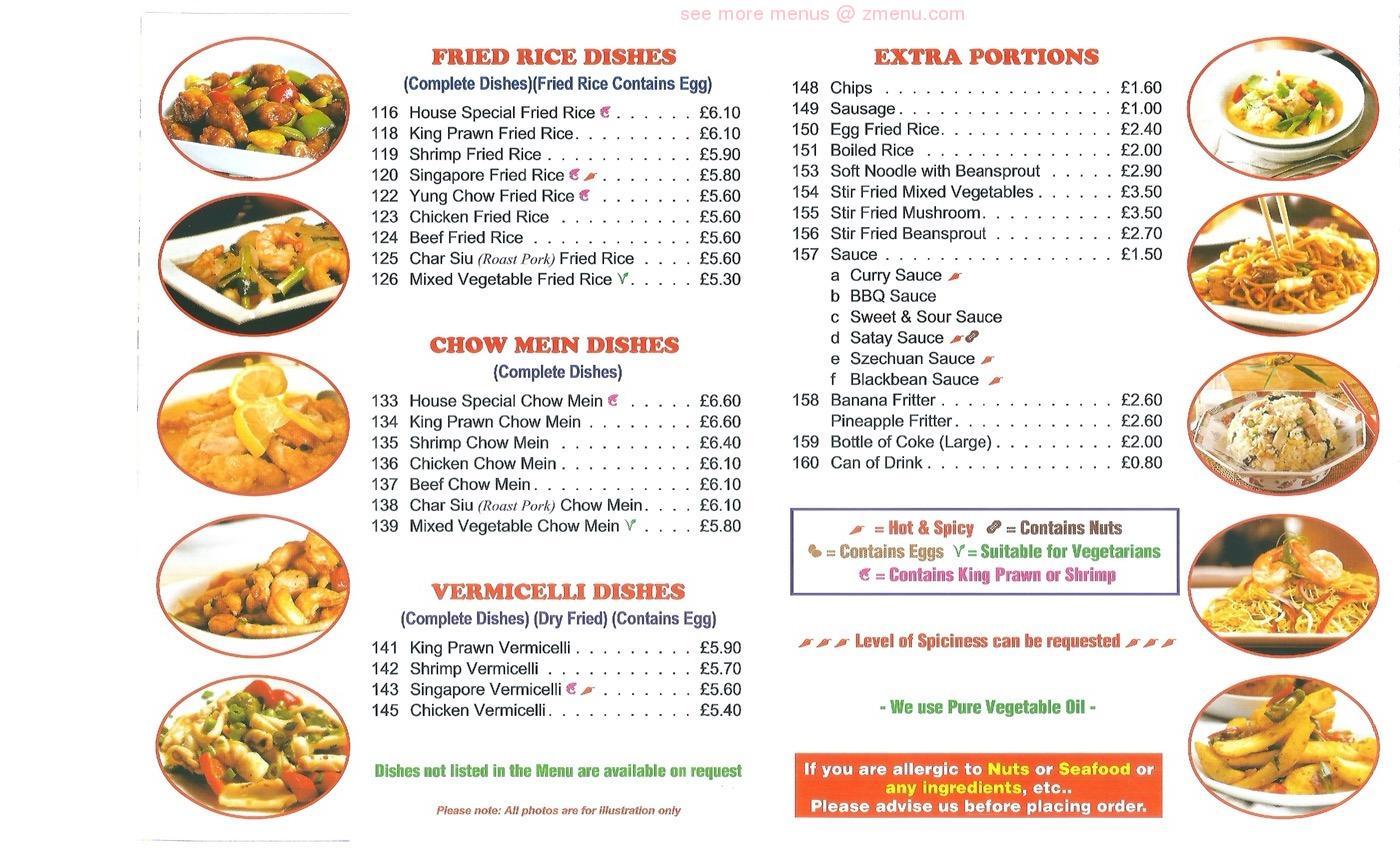 Online Menu of DYNASTY Restaurant, Northwich, United Kingdom, CW32 ...