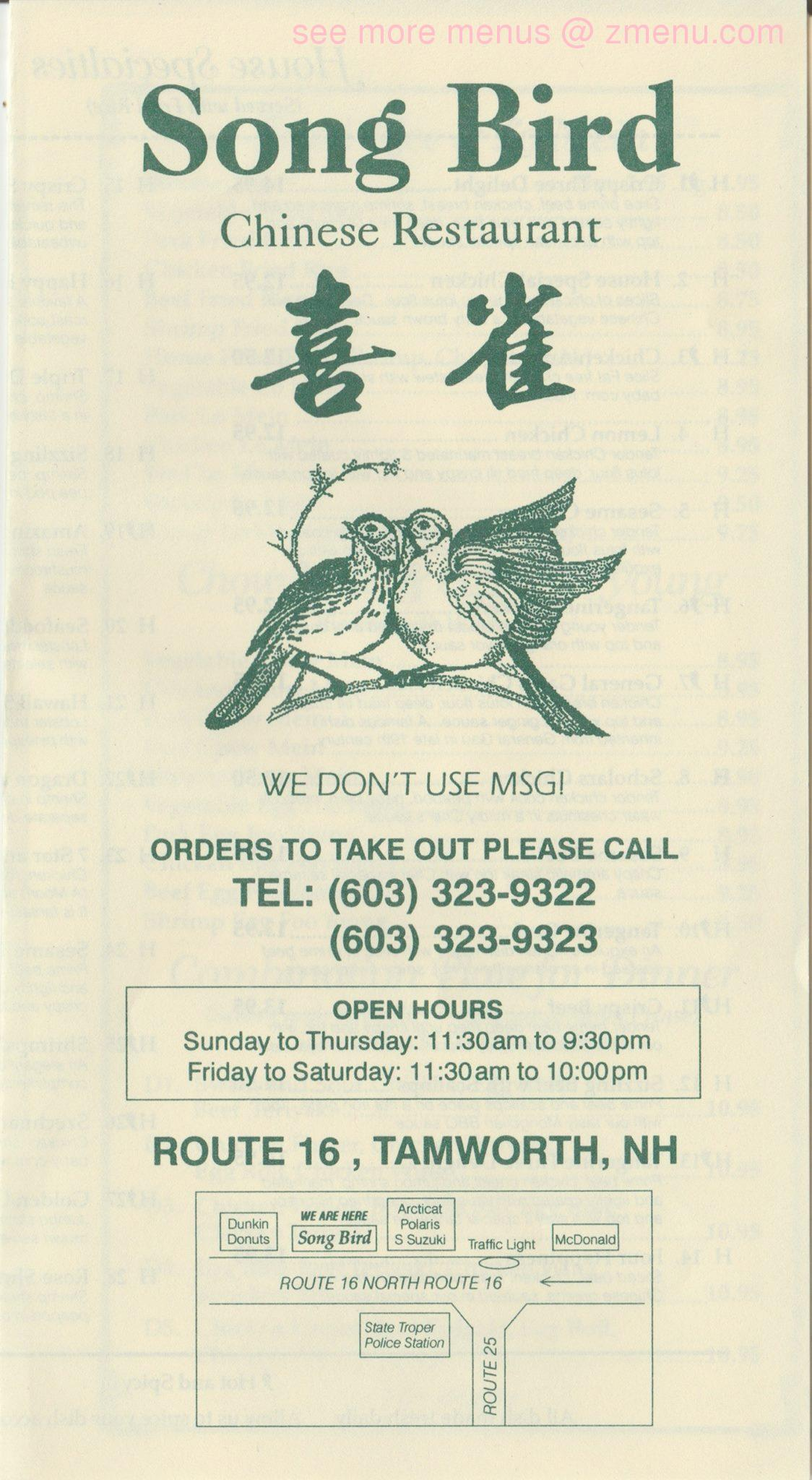 Songbird Chinese Restaurant