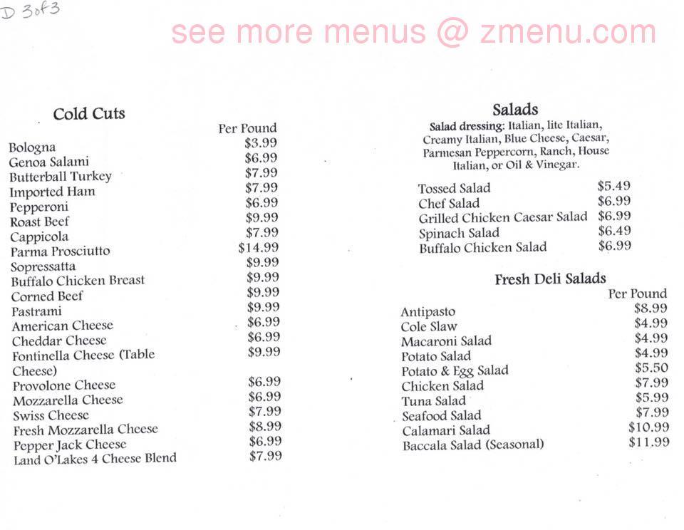 Online Menu of Santopietro Deli Restaurant, Waterbury