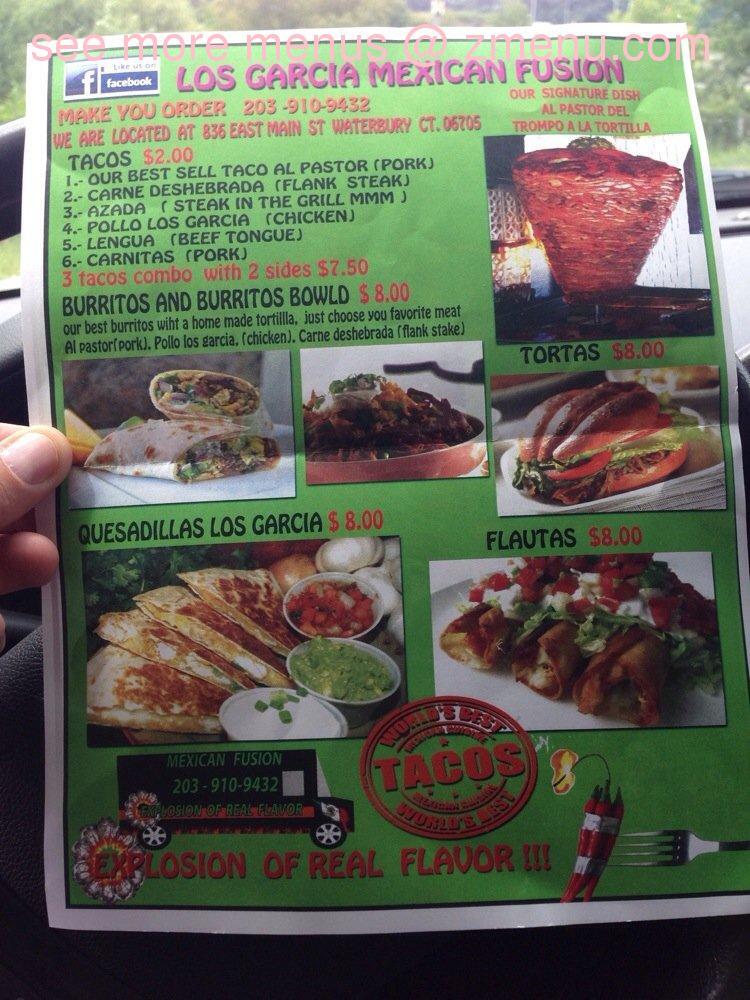 Los Garcia Mexican Restaurant Menu