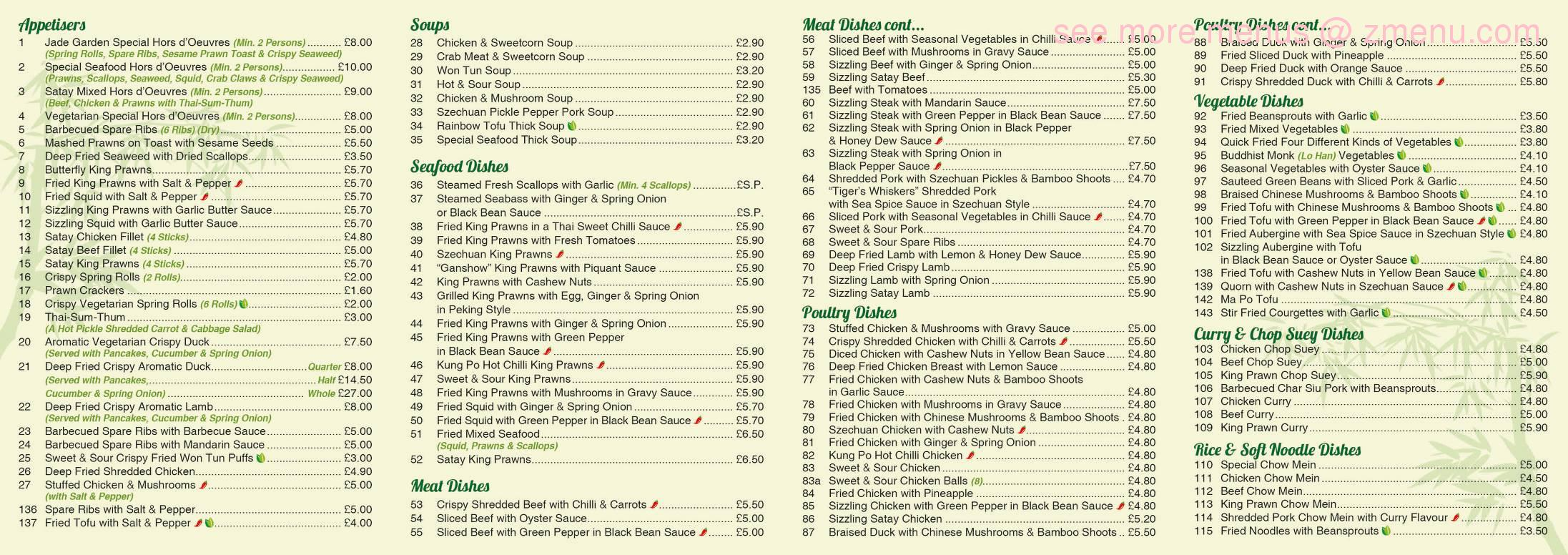 Online Menu Of Jade Garden Restaurant Saffron Walden United Kingdom Cb10 1hq Zmenu