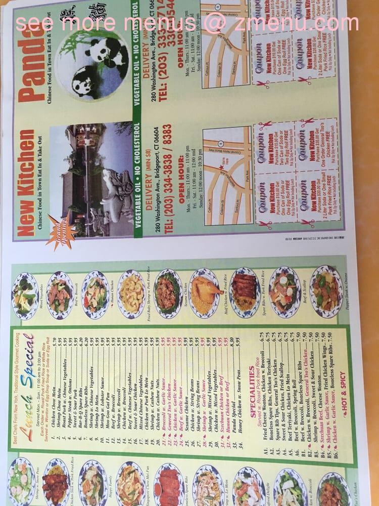 Online Menu Of New Kitchen Restaurant Bridgeport