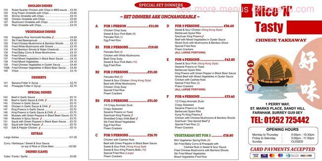 Online Menu Of Nice Tasty Restaurant Farnham United