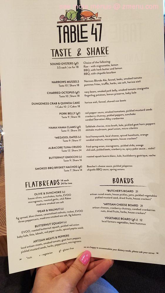 Online Menu Of Table Restaurant Gig Harbor Washington - Table 24 menu