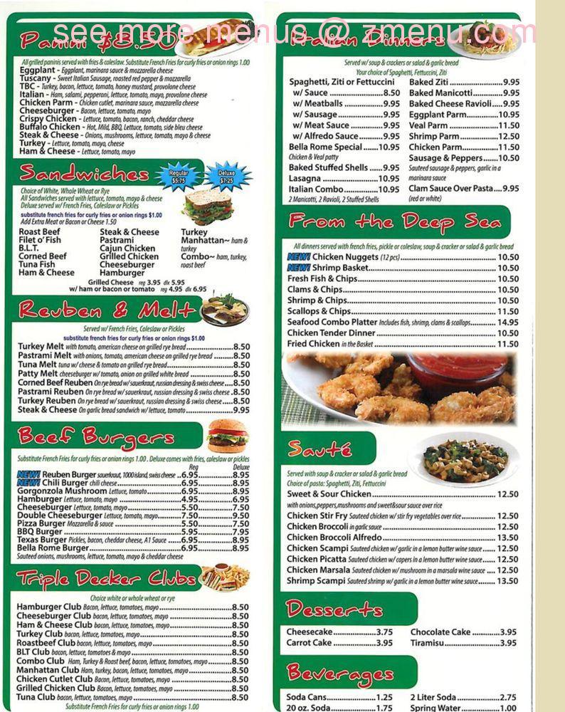 Online Menu Of Bella Roma Pizza Restaurant North Adams Massachusetts 01247 Zmenu
