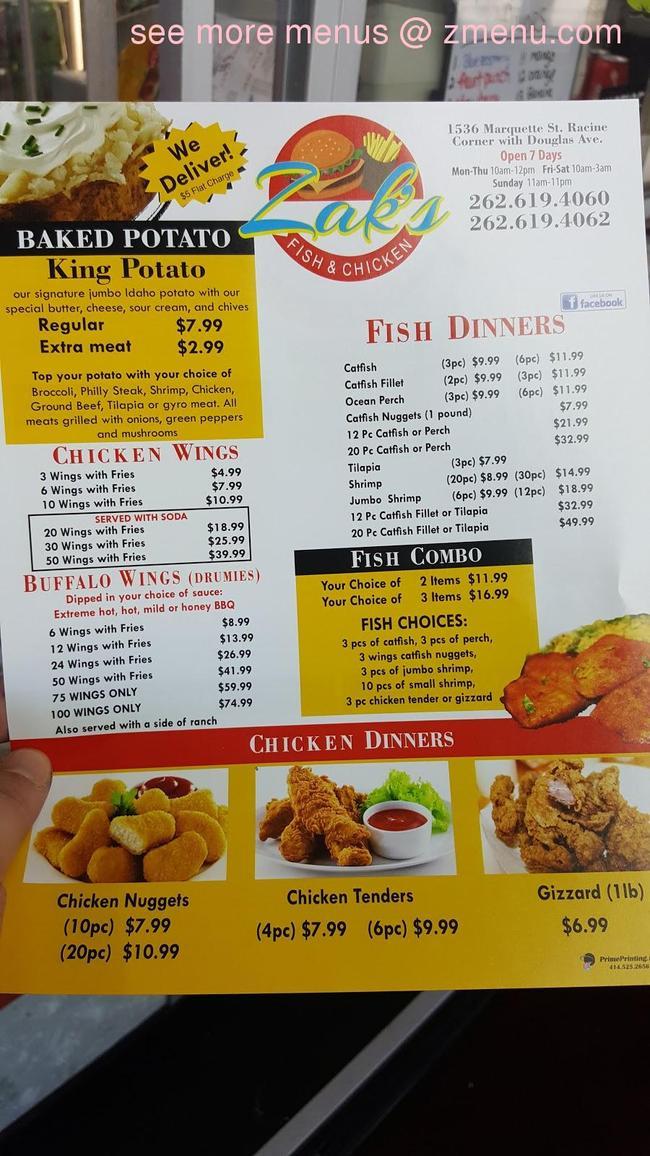 Online Menu Of 76 Steak And Potato Restaurant Racine Wisconsin