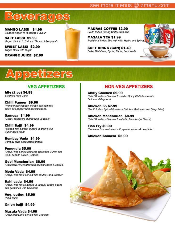 Online Menu Of Thali Express Restaurant Artesia California