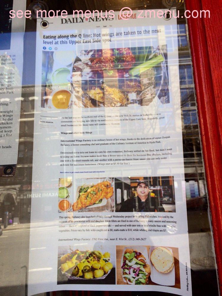Online Menu of Fishwiches Restaurant, New York, New York