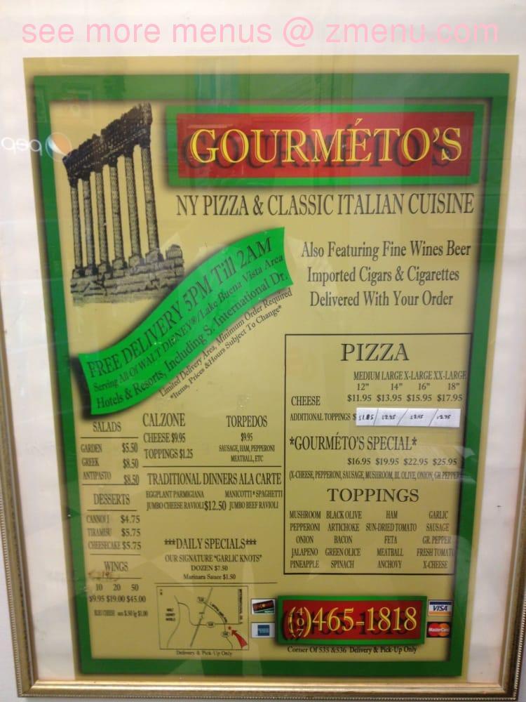 Online Menu of Gourmentos Restaurant Orlando Florida 32821 Zmenu